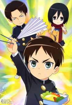 The newest issue of Animedia has revealed a new visual for the recently announced TV anime adaptation of Saki Nakagawa's Attack on Titan: Junior High (Shingeki! Kyojin Chuugakkou) parody manga.