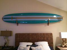 Compact Wood Surfboard Wall Rack - StoreYourBoard.com