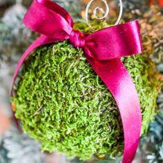 Moss Christmas Ornaments