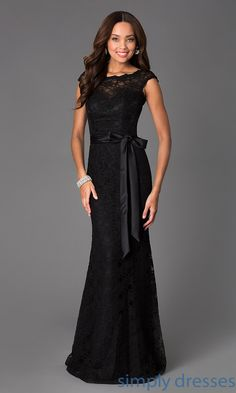 This classic black lace evening gown by Mori Lee hits all the right notes for your next special occasion formal. Description from simplydresses.com. I searched for this on bing.com/images