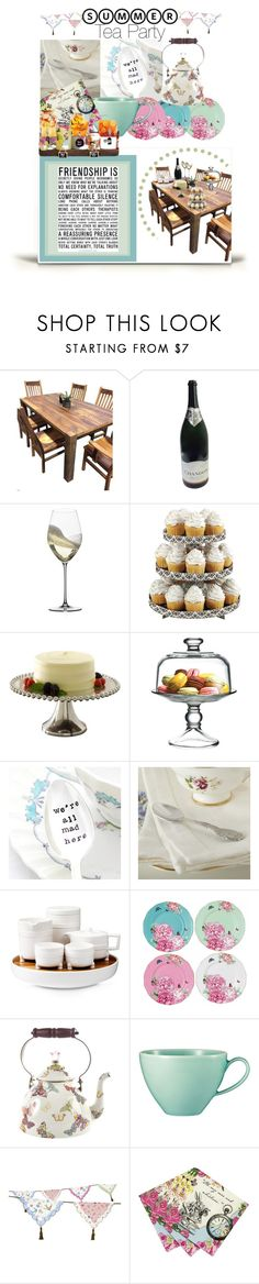 """Summer Tea"" by charisloves ❤ liked on Polyvore featuring interior, interiors, interior design, home, home decor, interior decorating, DutchCrafters, Riedel, Wilton and Biltmore"