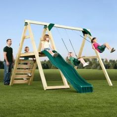 Swing-N-Slide Playsets, Pine Bluff Play Set (Just Add 4x4's and Slide), PB 8232 at The Home Depot - Mobile