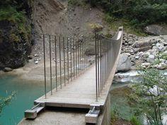pedestrian bridge in Graubunden Switzerland