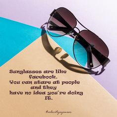 4cbabdf409 Always have a good pair of sunglasses on hand. You never know when you might