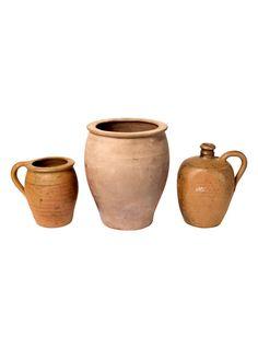 Set of Three French Stoneware Pots | The HighBoy | blog.thehighboy.com