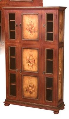 Fetching Red Armoire W_Hand-painted Vegetable Scenes. h1Fetching Red Armoire W_Hand-painted Vegetable Scenes_h1This bewitching red armoire features large hand-painted vegetables on the large central door panels and sides, with chicken wire on the smaller side doors. Hand-cra.. . See More Armoires at http://www.ourgreatshop.com/Armoires-C1067.aspx