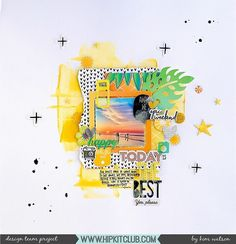 Let your mood decide what colors you go for on your next layout just as designer @kjstarre has! Kim picked yellow/orange colors to reflect happiness and created this stunning layout with the #july2017 #hipkits! @hipkitclub #hkcexclusives #exclusives #hipkitclub #hipkit #hipkitexclusives #mixedmedia #watercolors #colormood #color @amytangerine #onawhim #layers #clusters #dimension #papercrafting #kitclub #scrapbookkits #scrapbookingkitclub #scrapbooking