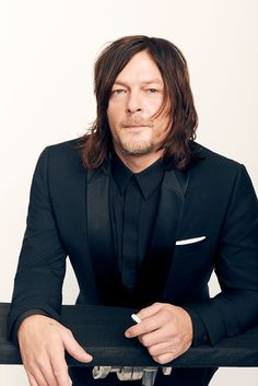 Norman Reedus poses for a portrait during the 2016 Critics Choice Awards on December 11, 2016 (Photo by Robby Klein)