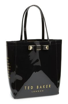 Free shipping and returns on Ted Baker London 'Bow Icon' Tote at Nordstrom.com. A signature bow and logo branding add unmistakable Ted Baker style to a glossy, go-anywhere tote.
