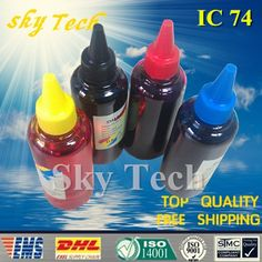 400ML Quality Dye Refill Ink  For IC74  ICBK74 - ICY74 suit for PX-M5040F PX-S5040 PX-M5041F PX-S740 PX-M740F PX-M741F