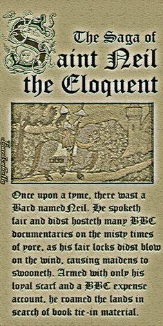 The Saga of St. Neil the Eloquent. AKA Neil Oliver BBC Host Vikings, Sacred Wonders of Britain