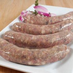 Duck & Pork Sausage with Figs Pork Brisket, Pork Meat, Pork Ribs, Homemade Sausage Recipes, Pork Recipes, Gourmet Recipes, Healthy Recipes, Duck Sausage, Grilled Sausage