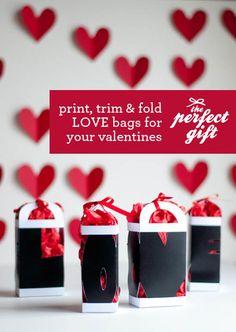 LOVE Valentine Gift Bag - free template & tutorial #choosetobemoreloving @Penn Foster