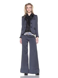 Chris Benz Wool and Silk Pant Suit