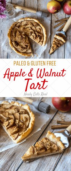 Rustic Apple Tart (Paleo & Gluten Free)- This rustic apple tart recipe is the perfect marriage of tart and sweet. This paleo and gluten free treat has very minimal sweeteners yet still works as a delicious dessert!