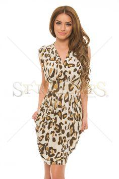 PrettyGirl Roundness Cream Dress