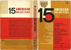 15 American One Act Plays - Vintage Book - $7.00