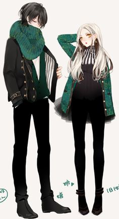 draw a matching couple colors outfit #wreckthisanime