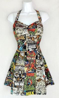 Sale. Marvel dress by RebeccasDorkyDesigns on Etsy, $40.00