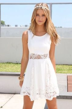 I am in love with this gorgeous white dress! Casual Outift for • teens • movies • girls • women • summer • fall • spring • winter • outfit ideas • dates • school • parties