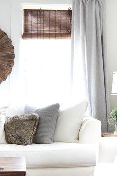 Light Gray Linen Curtains | Farmhouse Living Room Decor | Rooms FOR Rent Blog