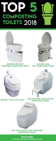 Top 5 #CompostingToilet 2018 Compost toilets are a great alternative to traditional flush toilets. They don't require any plumbing or water, and are much more environmentally friendly. If you have a tiny house, holiday cabin, RV, or just care about your