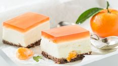 Nepečený mandarínkový cheesecake | Recepty.sk Czech Recipes, Ethnic Recipes, Camping Snacks, Cheesecake, Panna Cotta, Easy Meals, Food And Drink, Pudding, Cookies