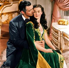 Clark Gable and Vivien Leigh, Gone With The Wind (made in 1939).  Costumes designed by Walter Plunkett