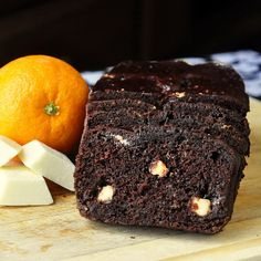 Chocolate Orange Banana Bread with White Chocolate Chunks - definitely not your Grandma's banana bread! So moist, fudgy and flavorful. Terrific for school lunches and after school snacks.