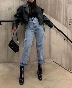 Denim lookYou can find Edgy outfits and more on our website.Denim look Edgy Outfits, Winter Fashion Outfits, Mode Outfits, Autumn Winter Fashion, Fall Outfits, Fashion Clothes, Denim Outfits, Summer Outfits, Autumn Look