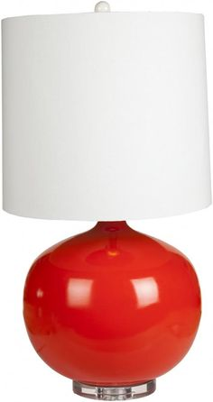 Nia Table, Lamp, Red Apple