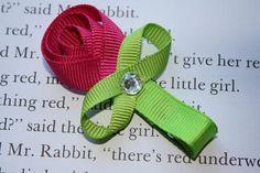 Tulip Ribbon Sculpture Bow. Girls Pink, Hot pink, Purple, Fushia Flower Ribbon Sculpture Hair Clip Pick One