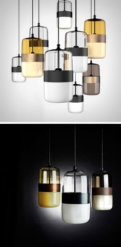 The Futura lighting have an interesting aesthetic with their form and use of transparent and translucent materials.