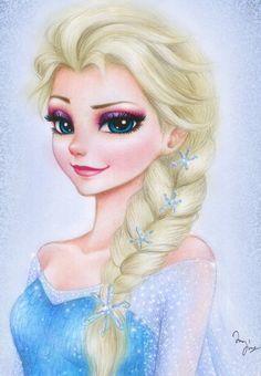 Frozen: Elsa by Mari945 on deviantART