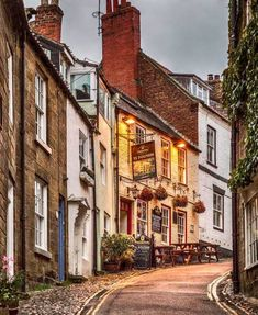 King Street in Robin Hood's Bay is a little fishing village within the North York Moors National Park, England.