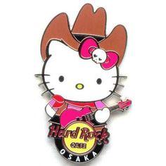 hello kitty by hard rock cafe ltd ed | Hard Rock Cafe Osaka UCW 2012 Hello Kitty World Pin #1 (USA)