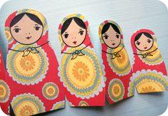 DIY: russian nesting doll card
