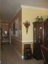 View our work - Crown Molding - Painting - Floors Crown Molding, Floors, Entryway, Painting, Furniture, Home Decor, Crown Moldings, Home Tiles, Homemade Home Decor