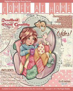 Comfy at Home - Digital Stamp