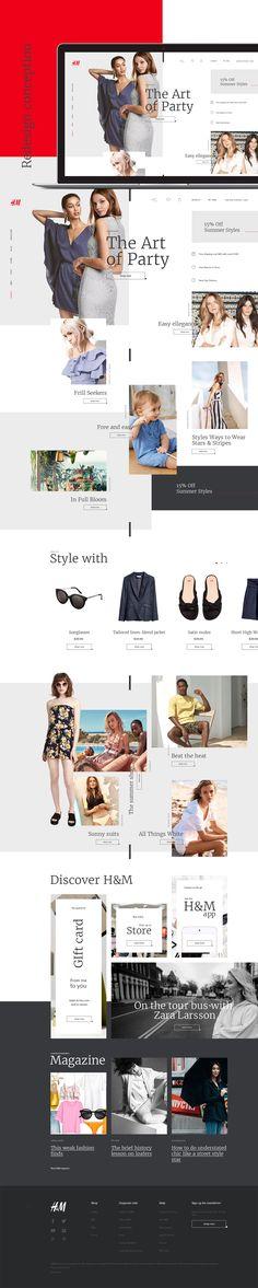 H&M Website Redesign on Behance