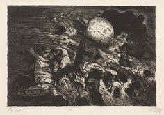 Der Krieg (1924) 01- Soldatengrab zwischen den Linien (Tombe de soldat entre les tranchées)