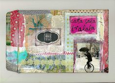 for travel journal - great idea...an envelope to keep your paper scraps and other keepsakes together.