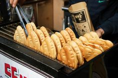 Poop bread (Ddong bbang) - A Korean street snack. Note: It just shaped like a pile of dog poop. It comes in various flavours too. No harmful ingredients are used, I'm sure.  ;)