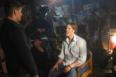 Winchester Bros. :: Supernatural 2x14 Born Under A Bad Sign Episode Still Behind the Scenes