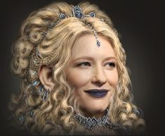 Heria was a beautiful dwarf queen who was the wife of Dáin I and settled in Ered Mithrin. Behind the Scenes Her concept appearance is based on the character Galadriel, played by Cate Blanchett. Lotr, Hobbit Cosplay, Female Dwarf, Dwarf Costume, An Unexpected Journey, Cate Blanchett, Middle Earth, Lord Of The Rings, Tolkien