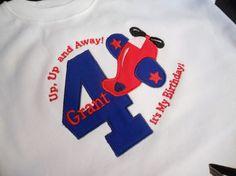 Airplane Birthday Shirt