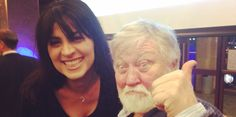 Our Xmas party 2015 - Actor Janet Shay and Sci-Fi Legend Ron Cobb