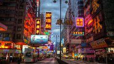 hong kong city street - Google Search