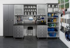 Nice garage organization-contemporary garage and shed by transFORM | The Art of Custom Storage
