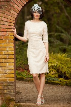 Lace Sheath With This Ring Dress from the Something Old Something New Collection by Shabby Apple